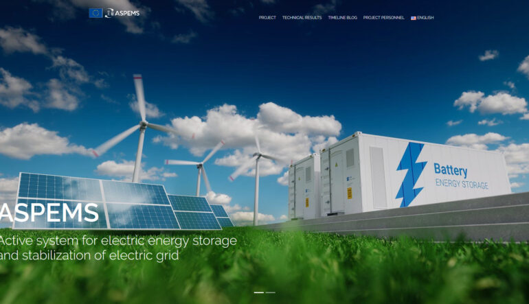 Dizajnist_ASPEMS – Active system for electric energy storage and stabilization of electric grid